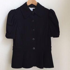 Diane Von Furstenberg Black Peplum Jacket
